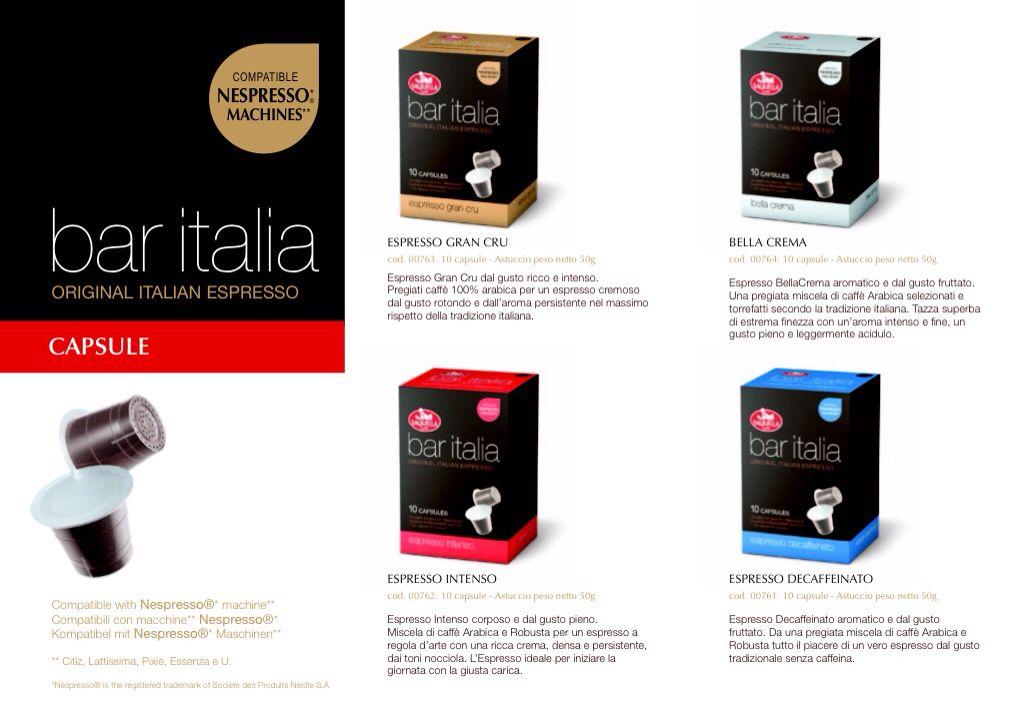 aec9362827b5f4 Capsule Caffè - Bar Italia ( Compatibile NESPRESSO Machines ...