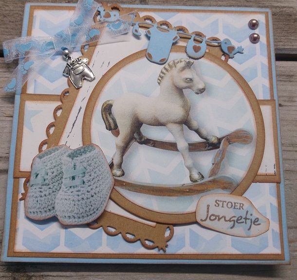 Card created with CraftEmotions Lovely Baby Collection by Veldmaat