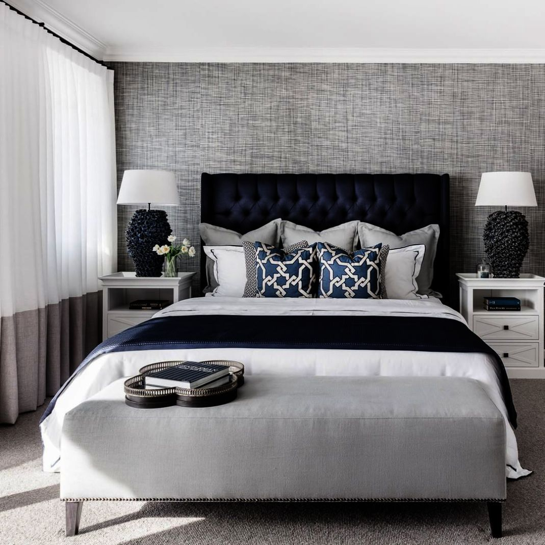 Hamptons Inspired Luxury Home Master Bedroom Robeson: Home Decor Ideas Small Apartment. Home Decor Stores Online