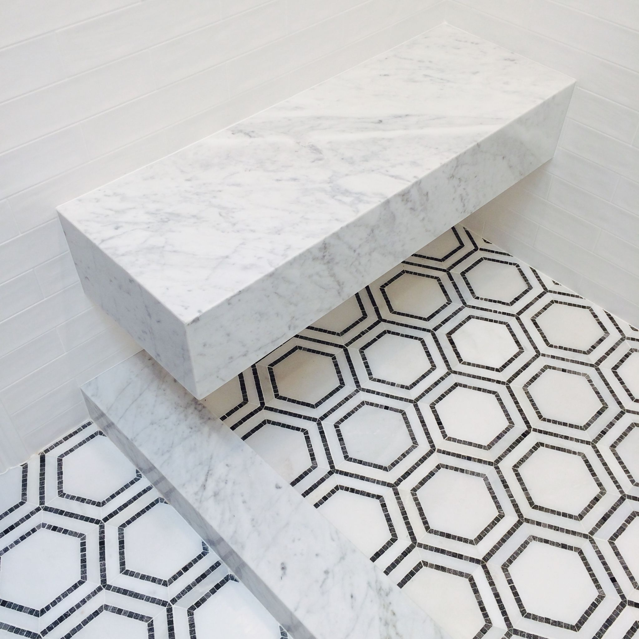 hex pattern tile floor // bathroom // grant gibson | Bathroom ...