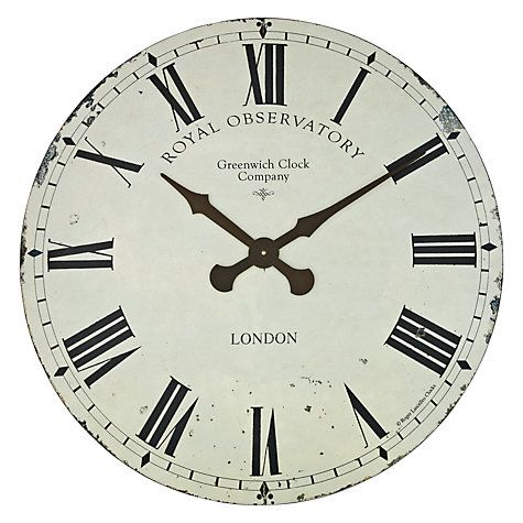 Buy Roger Lascelles Greenwich Wall Clock Dia70cm Cream Online At Johnlewis