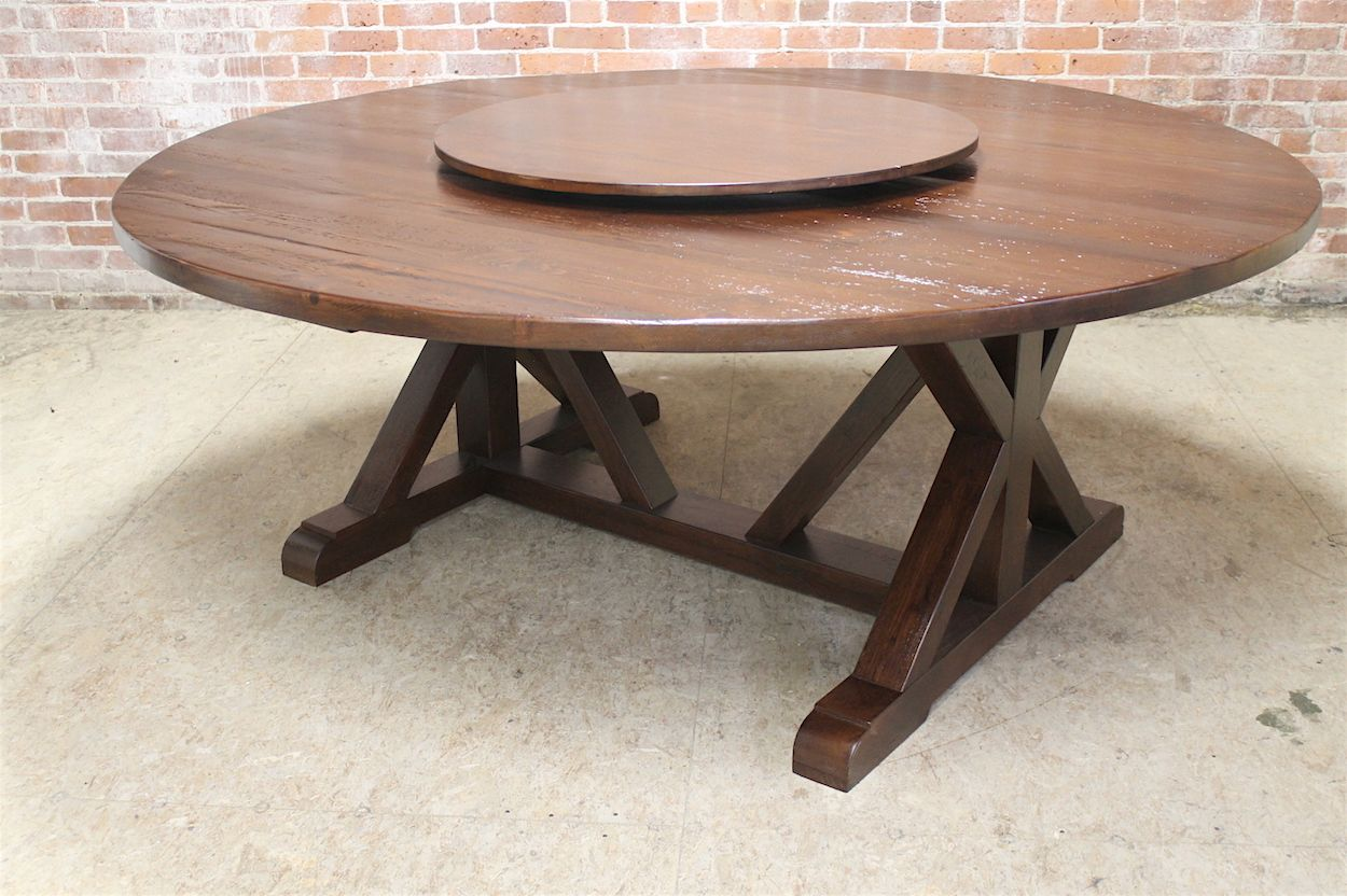 Round Farm Table Up To 86 In Diameter Ecustomfinishes Round