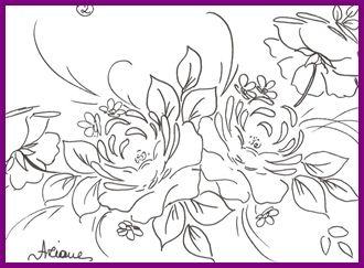 1risco para pintura em tecido -ROSA CINZA 2