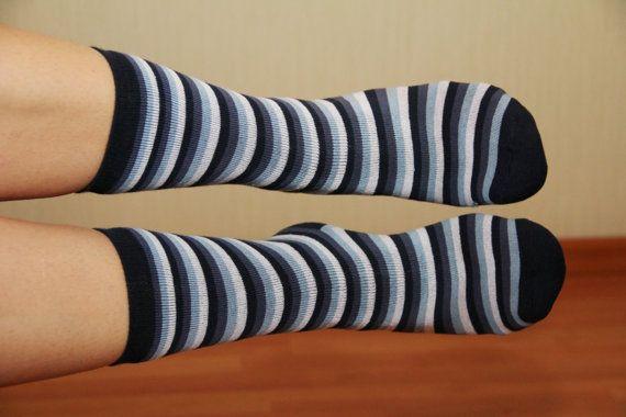 Striped socks by Julia Shelganova on Etsy