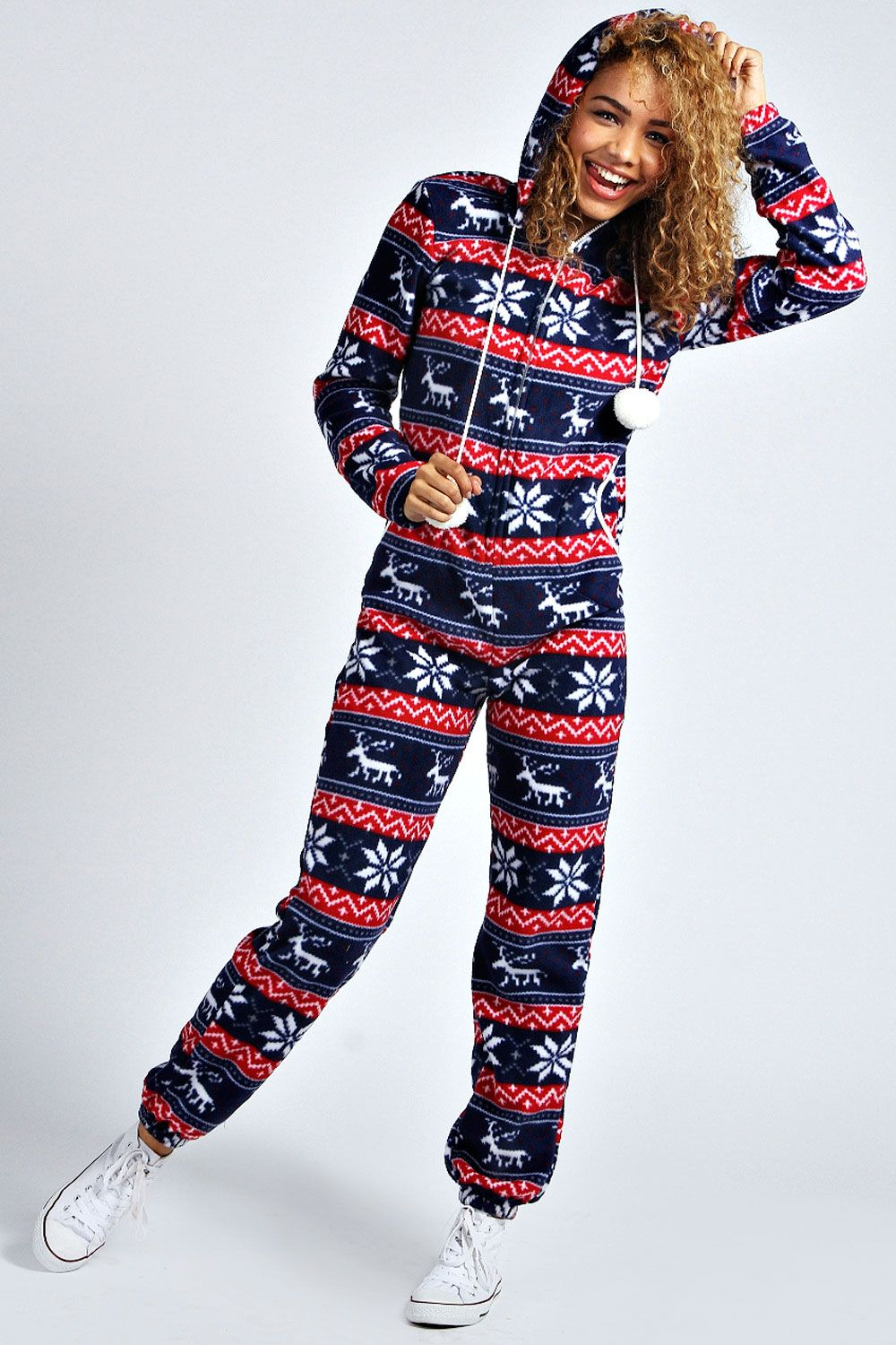 Hooded Pom Pom Onesie boohoo Ireland Cool outfits