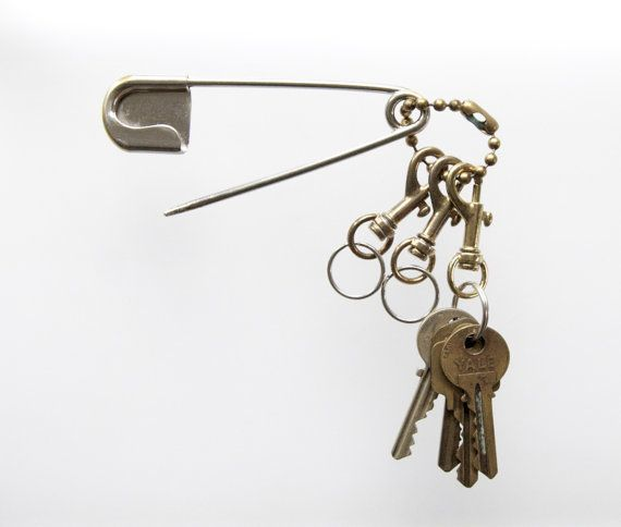 steampunk keychain by SimpleLanyards on etsy