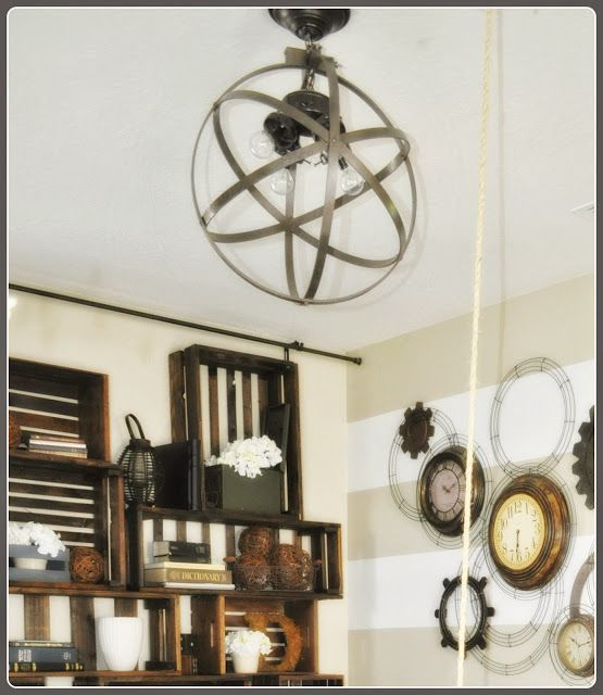 Sawdust and Stitches: Circle Light Fixture