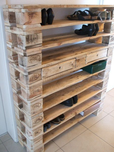 Schuhschränke – XXL Schuhregal aus Paletten! – ein Designerstück von Woodful b
