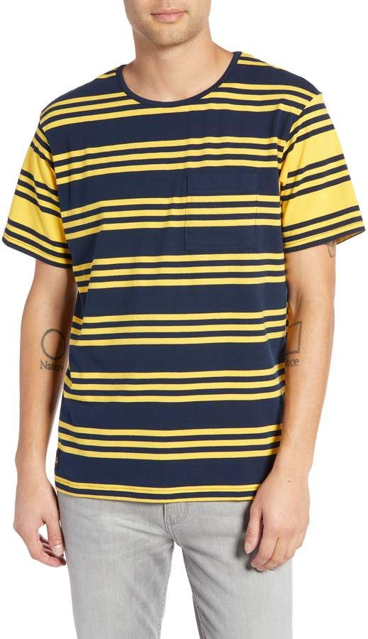 bf156bfd13b NATIVE YOUTH Contrast Stripe Pocket T-Shirt