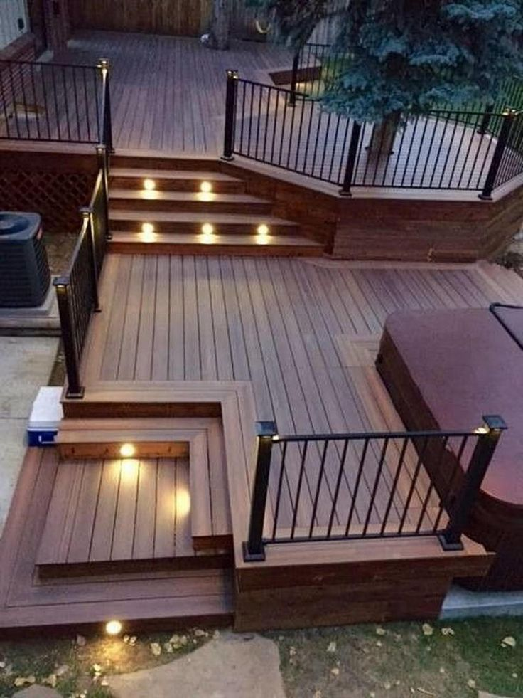 RV Deck Ideas – As a paint job is the quickest way to transform RV, a deck is also the fastest way to... #traveltrailers #diy #howtobuild #glamping #portable #campsite #screenedporches #backyards #design #rvcamping #stairs