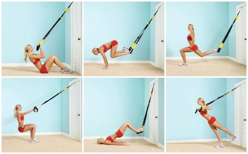 All you need is a TRX cable a door and these 6 awesome strength moves! Crunch and curl Place TRX door anchor over door; ...  sc 1 st  Pinterest & Workout Anywhere with a TRX Cable | TRX Cable and Strength