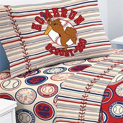 Scooby Doo Baseball Homerun 4pc Bed Sheet Set Full Size