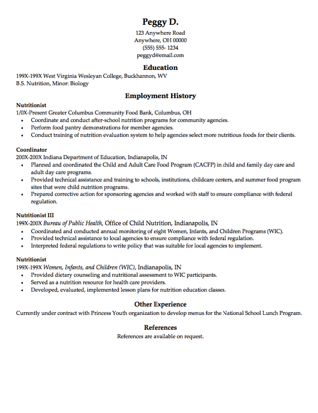 Sample Resume Food Bank  HttpResumesdesignComSampleResume