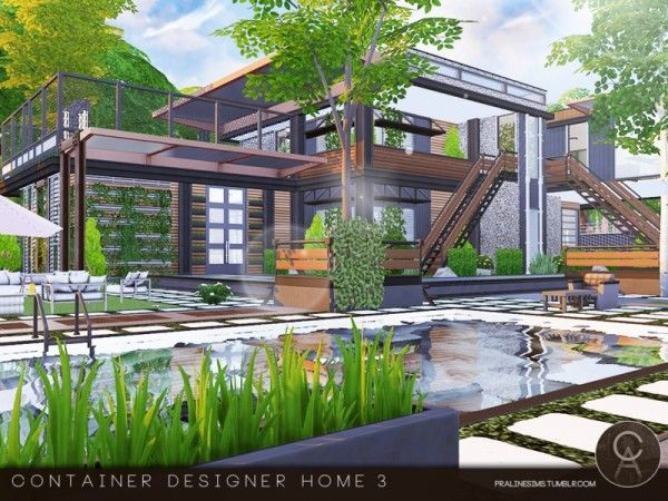 The Sims Resource: Container Designer Home 3 By Pralinesims U2022 Sims 4  Downloads