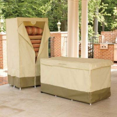 outdoor cushion storage with cover
