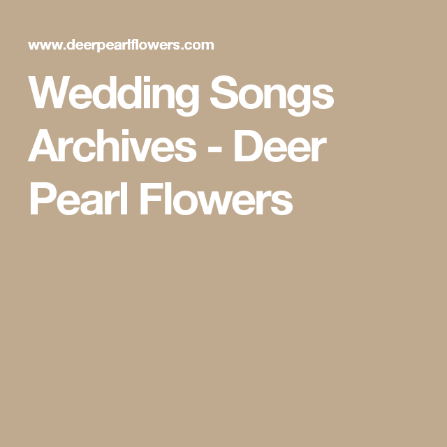 Wedding Songs Archives