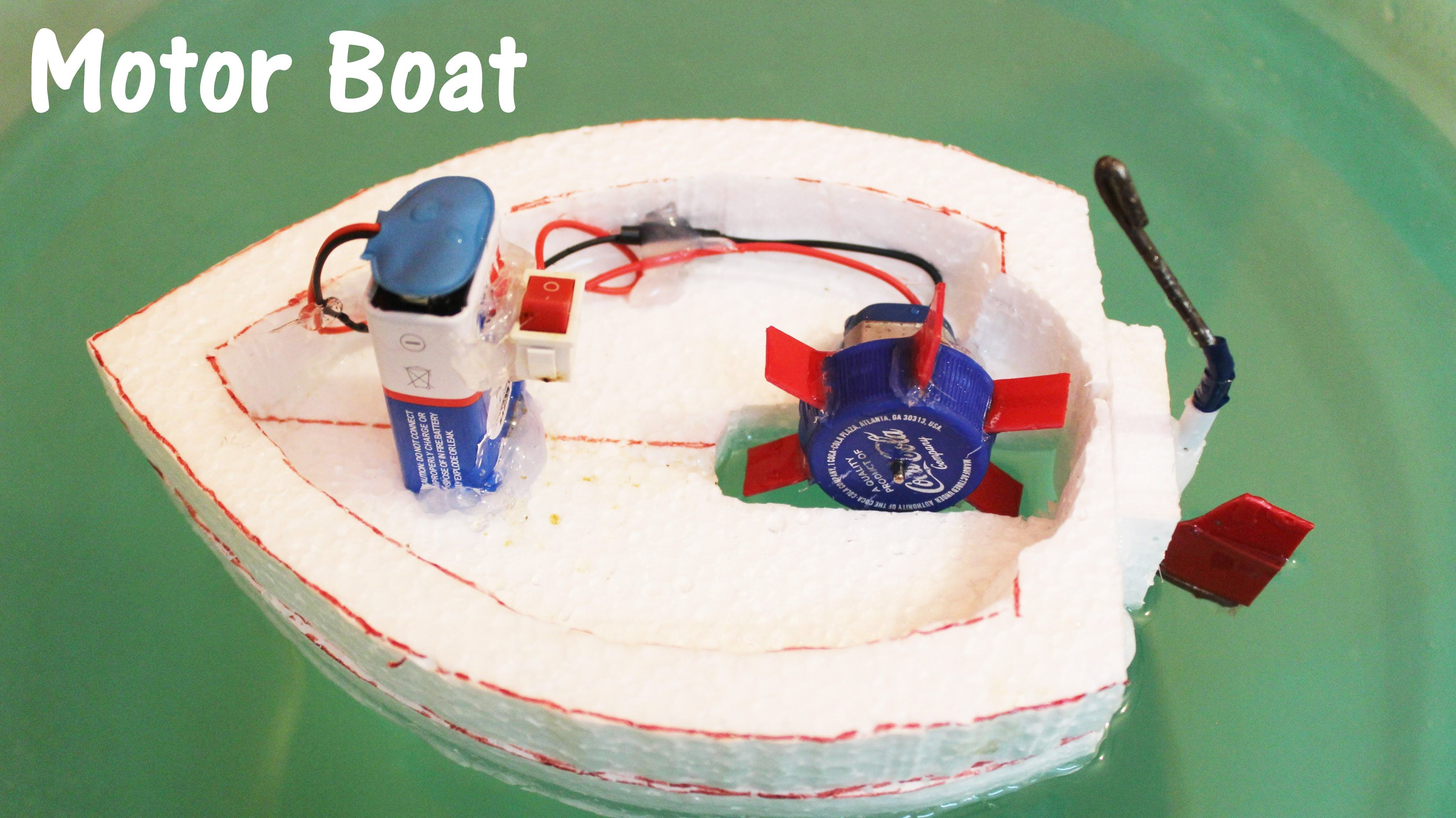 How To Make An Electric Motor Boat Using Thermocol And Dc