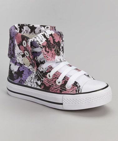 Look at this #zulilyfind! Pink & Purple Fold-Over Hi-Top Sneaker by DOK Shoes #zulilyfinds