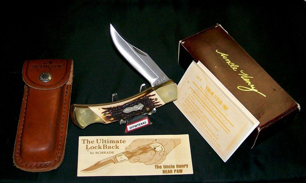 Vintage Usa Made Schrade Lb8 Lockback Knife 1980 S Uncle Henry 5 W Packaging Papers Loss Cert Ditwtexas Webstoreplace Com Vintage Usa Knife Ebay