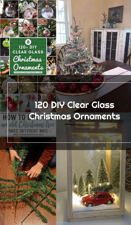 120 DIY Clear Glass Christmas Ornaments #Christmas #ChristmasDecor #ChristmasOrnaments #ChristmasCrafts #DIY #Crafts