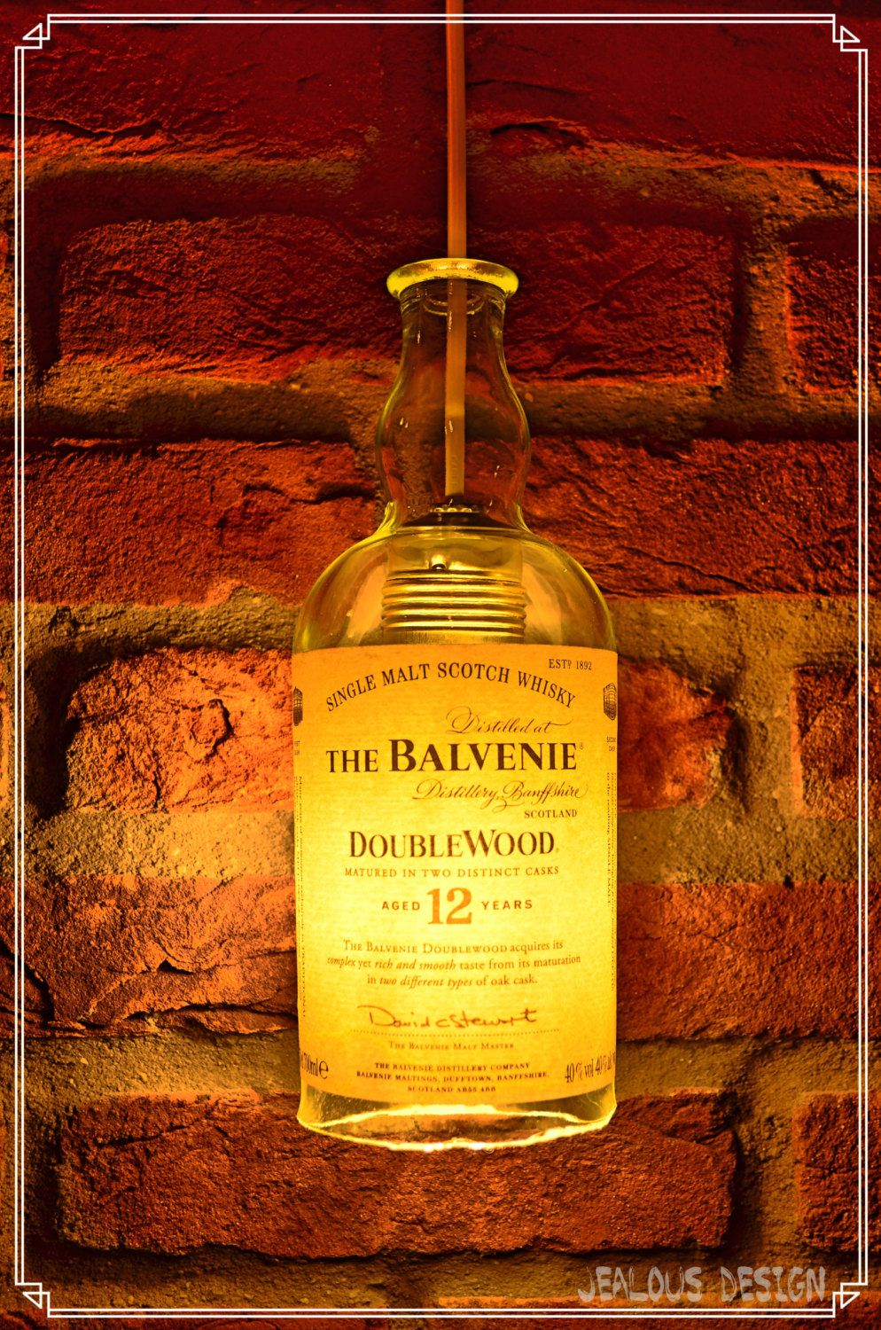 Balvenie Whisky Bottle Light Hängelampe Pendellampe von JealousDesign auf Etsy
