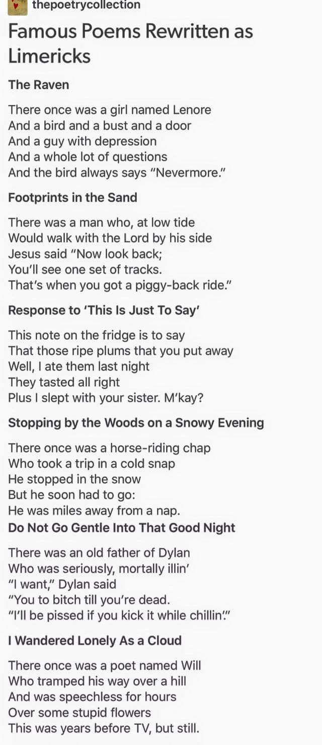 Limerick dating poem
