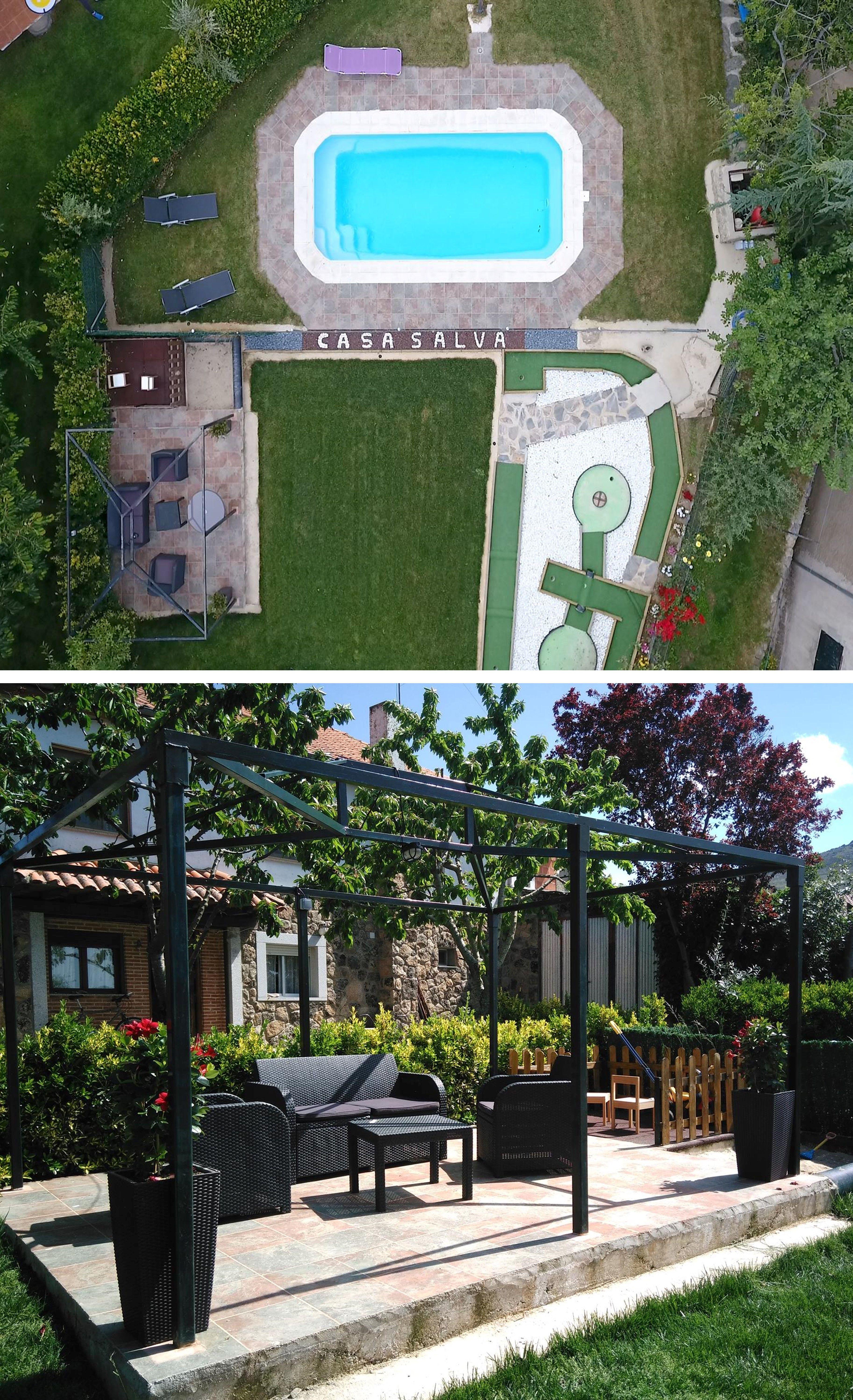 Salamanca Casa Para Grupos 9 Habitaciones Jacuzzi Bodega Piscina Privada Mini Golf Y Barbacoa Casas Rurales Barbacoa Jardin Casas Grandes