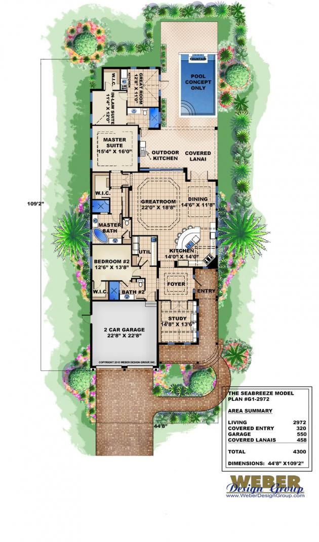 Seabreeze Floor Plan Narrow Lot House Plans By Weber