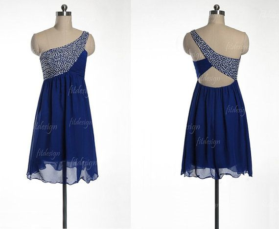 royal blue prom dress short prom dress chiffon prom by fitdesign ...