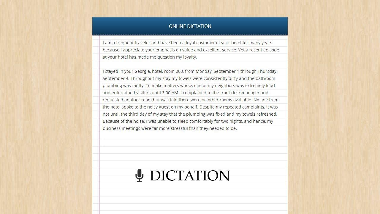 Free Dictation app Speech Recognition Google Chrome