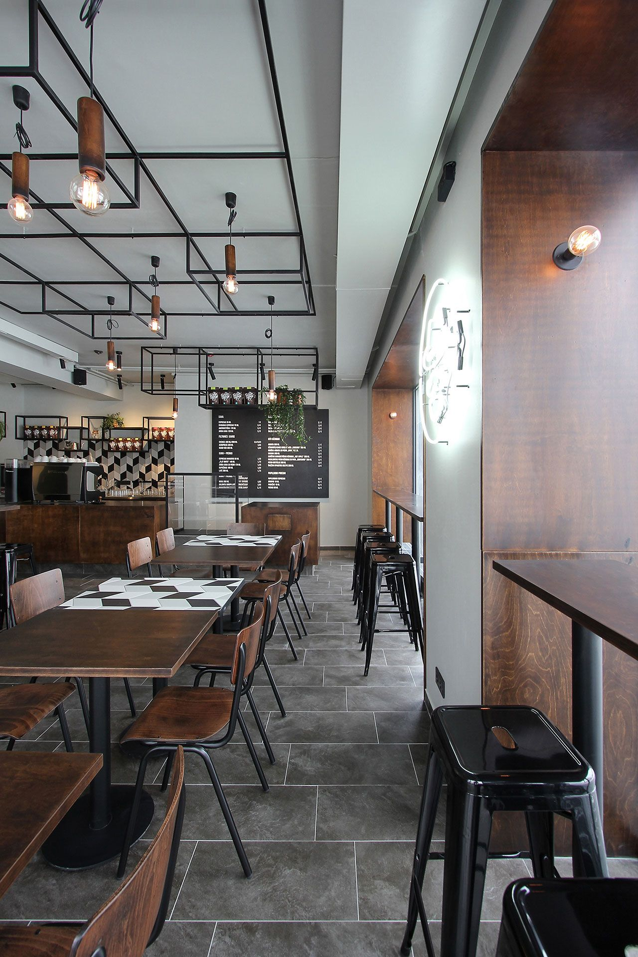 Coffee date kavalierius caf in lithuania by ram nas - Best coffee shop interior design ...