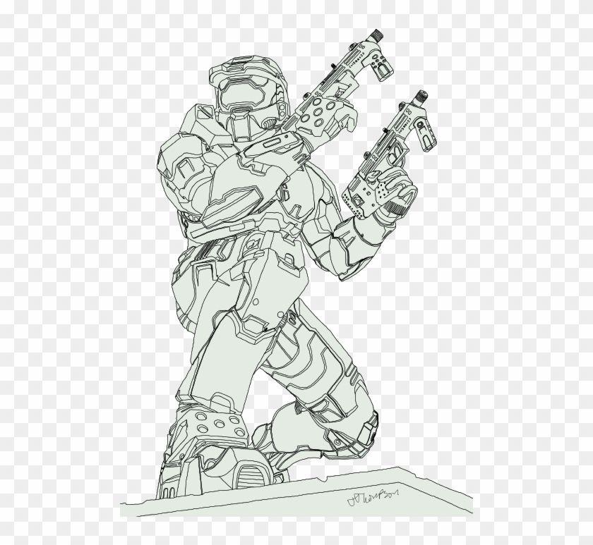 Master Chief Sketch Halo 2 Master Chief Drawing Hd Png Download Master Chief Costume Halo Master Chief Collection Master Chief Armor