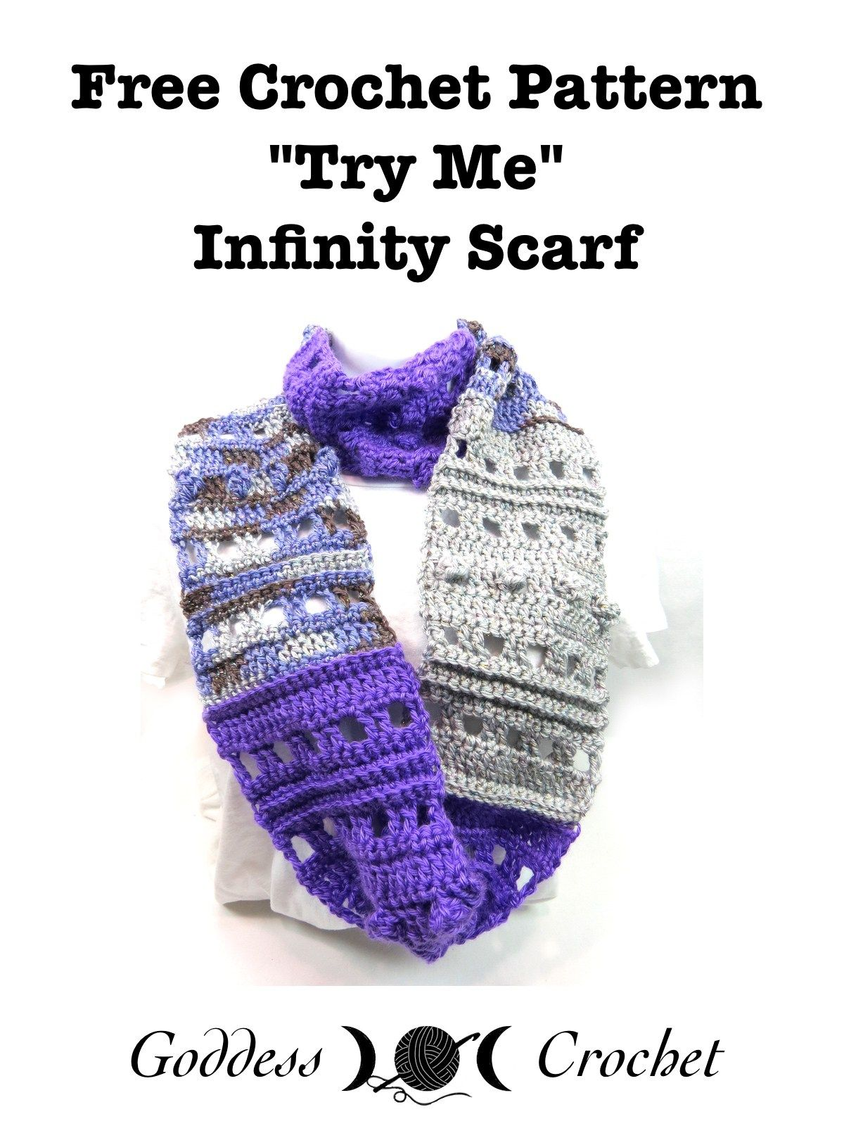 "Try Me"" Infinity Scarf – Free Pattern from Goddess )O( Crochet ..."