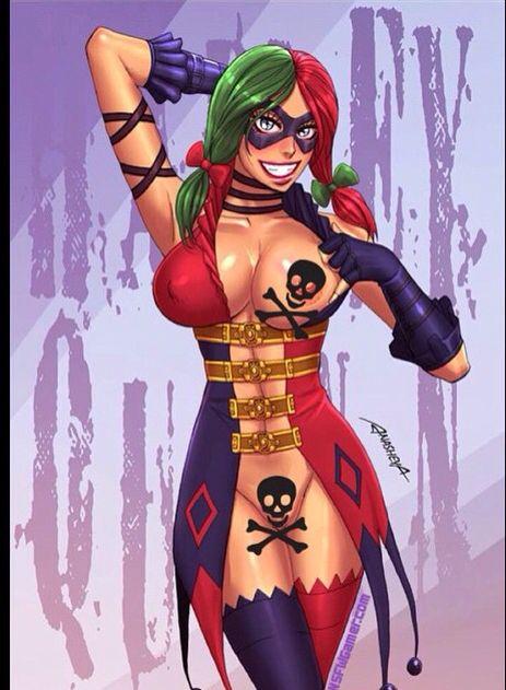 Harley Quinn Futa Art