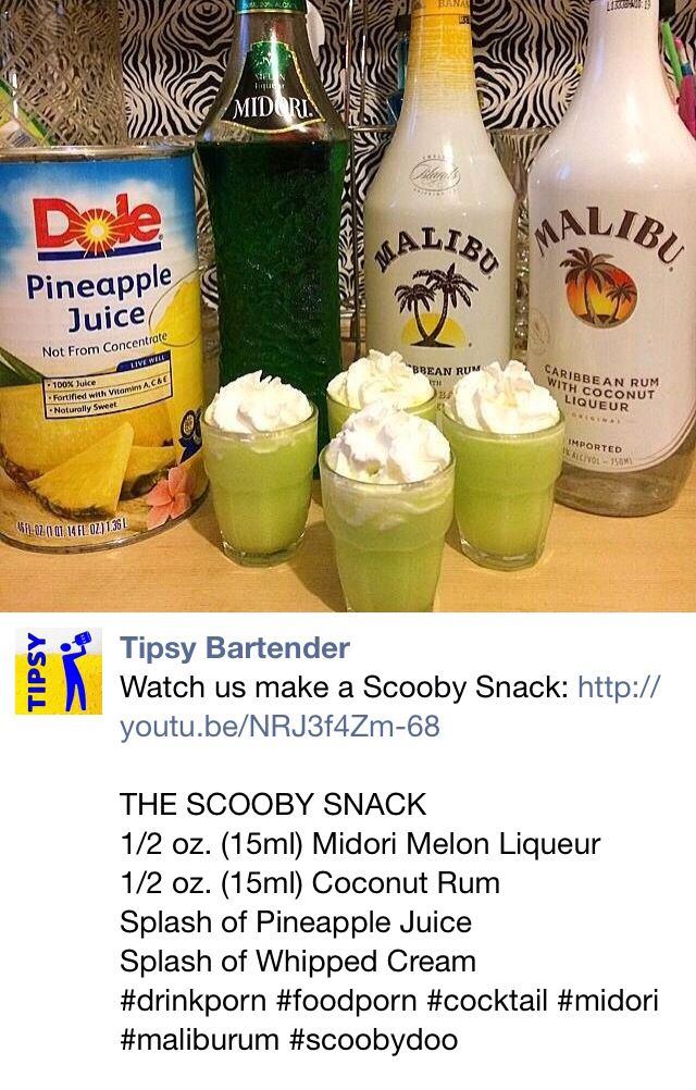 Scooby Snack Shots Alcohol Drink Recipes Scooby Snack Drink Alcohol Recipes