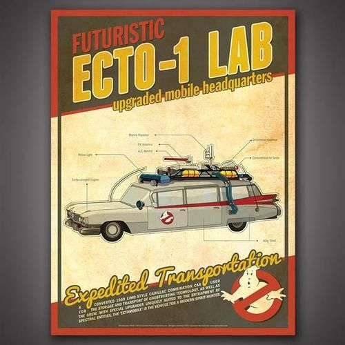 Ghostbusters Tech Poster Set Shows Those Electronic Gadgets for Supernatural Things #electronicgadgets