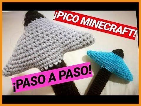 ¡Pico Minecraft eine Ganchillo Paso eine Paso Crochet (Amigurumis) - YouTube, #...