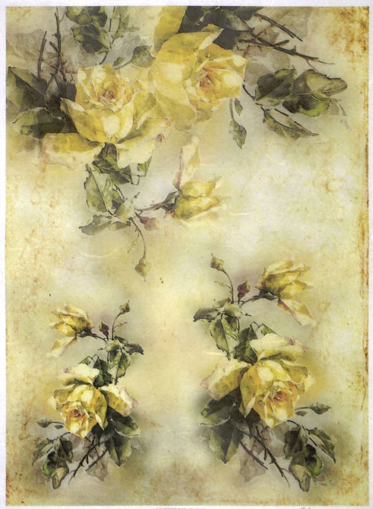 Scrapbook Sheet Craft Flower Bouquet 3 Rice Paper for Decoupage
