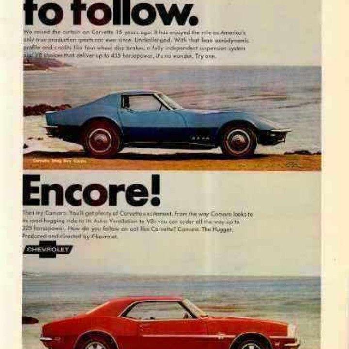 1968 Chevrolet Corvette Camaro Tough Act to Follow & Encore Vintage ...