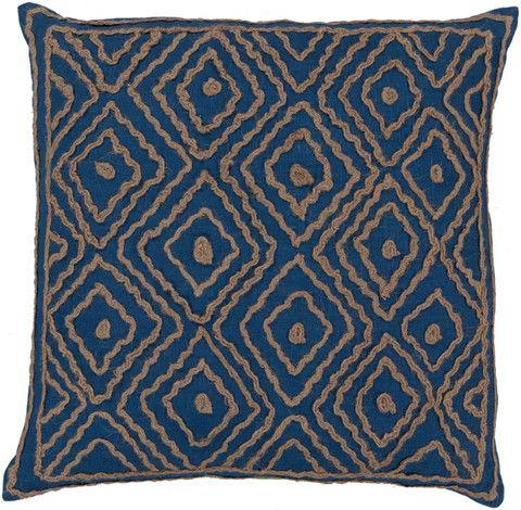 Mediterranean Blue Surya Twist Pillow #modish #newitems