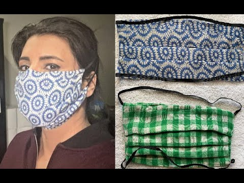How to Sew a REUSABLE FABRIC FACE MASK with FILTER POCKET