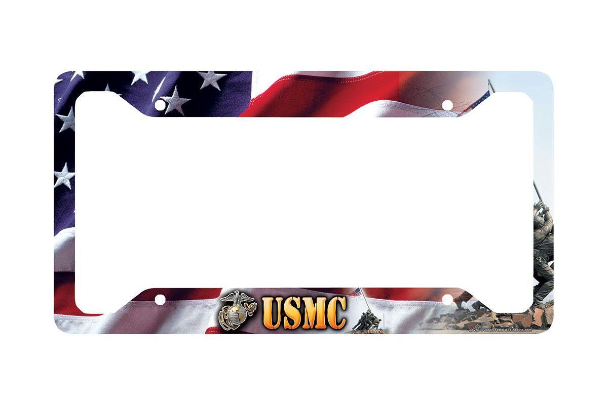 Airstrike® Marine Corps License Plate Frame, Marines War Memorial ...