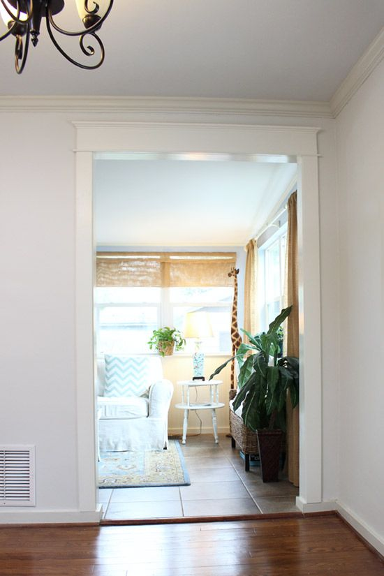 White Trimmed Cased Opening Homey In 2019 Pinterest Home Decor