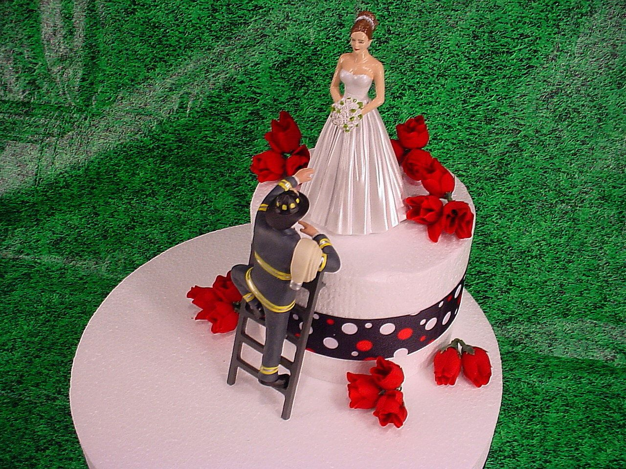 fire truck wedding cake toppers and fireman to the rescue groom firefighter 14279