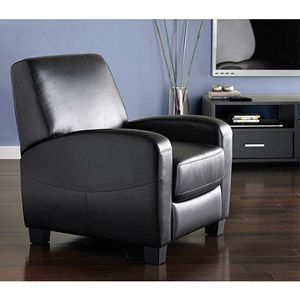 Hometrends Black Recliner Walmart Com Home Theater Seating Theater Recliners Furniture