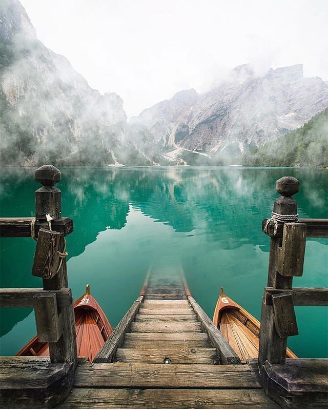 Courtesy of @kyrenian  Lago Di Braies - Italy  #BestDiscovery to be featured !