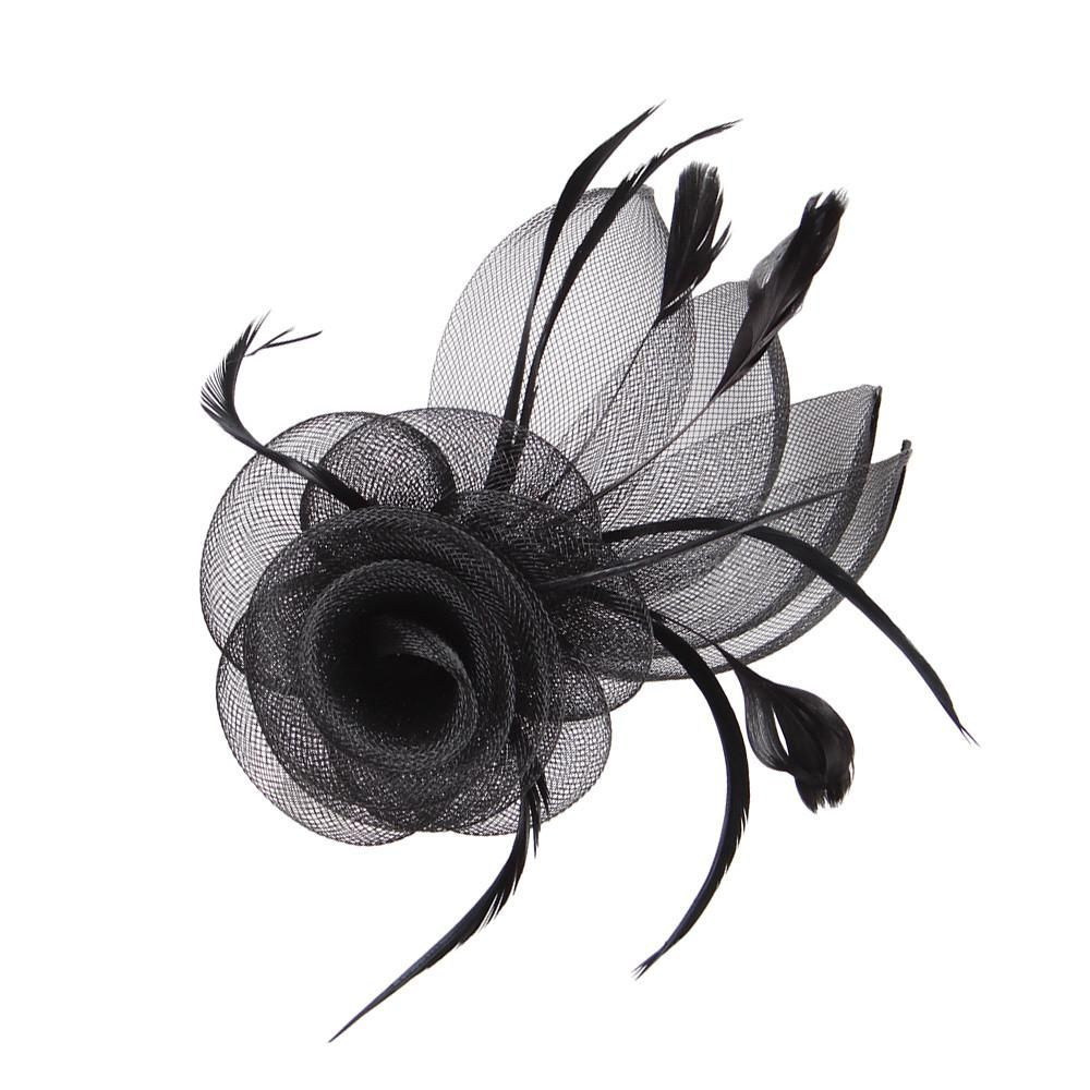 Small Rose Fascinator-BroochPurple