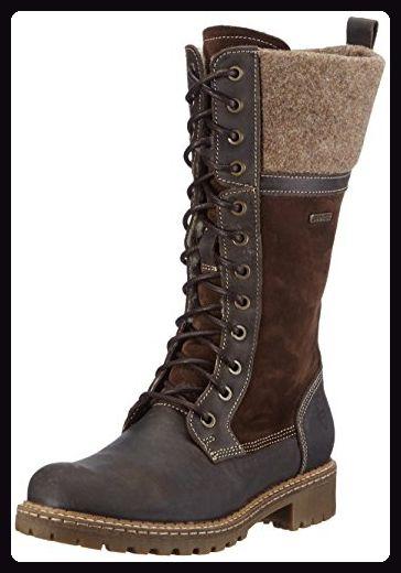 Tamaris 26431, Damen Combat Boots, Braun (Cafe Comb 385), 41