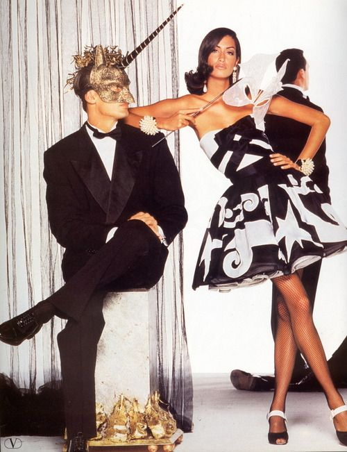 Yasmeen Ghauri for Valentino Spring/Summer 1992 Ad Campaign.