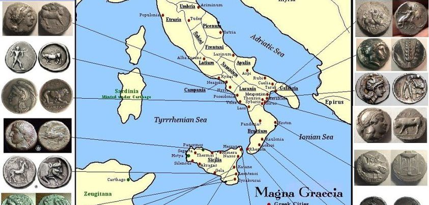 The Map Below Is Of The Greek And Carthaginian City States Of The Magna Grecia Area Italy Was First Settled By The Gre Magna Graecia Greece Map Ancient Greece